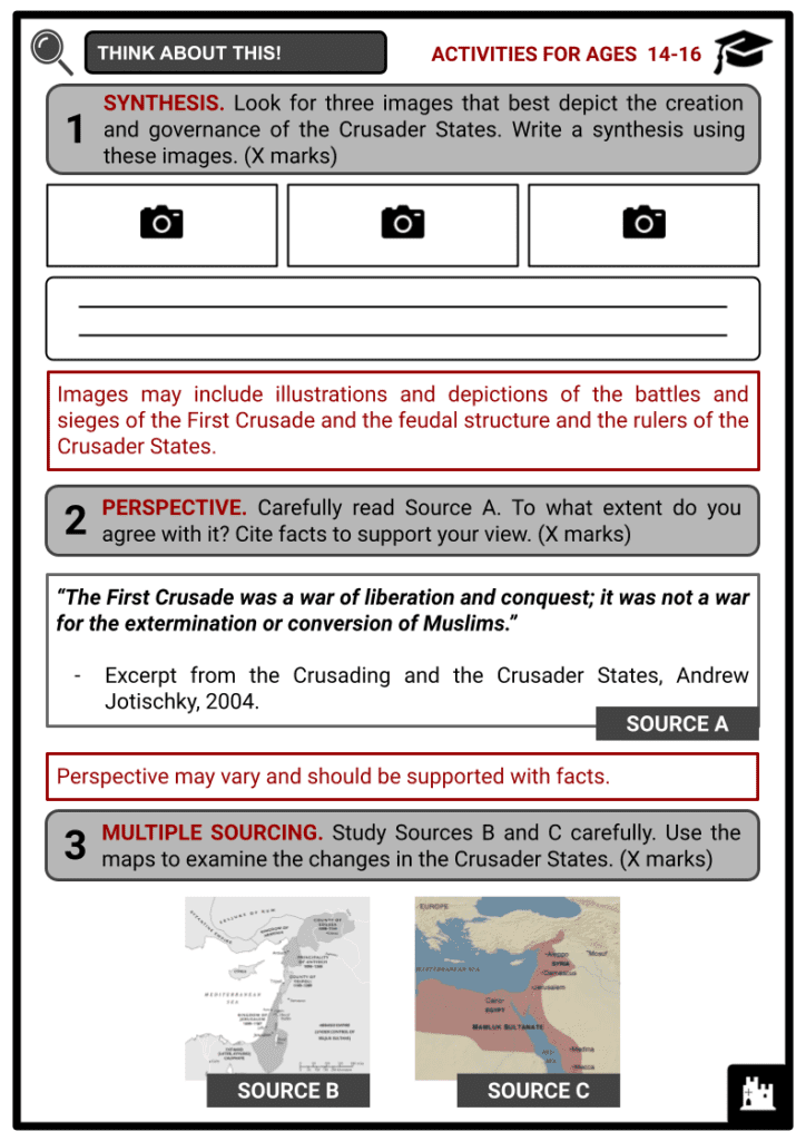 Crusader States Activities & Answer Guide 4